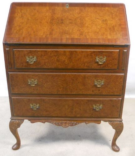 Antique Queen Anne Style Walnut Writing Bureau - SOLD